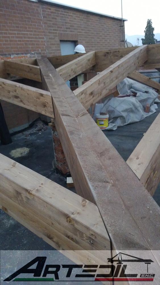 rifacimento tetto, compluvio