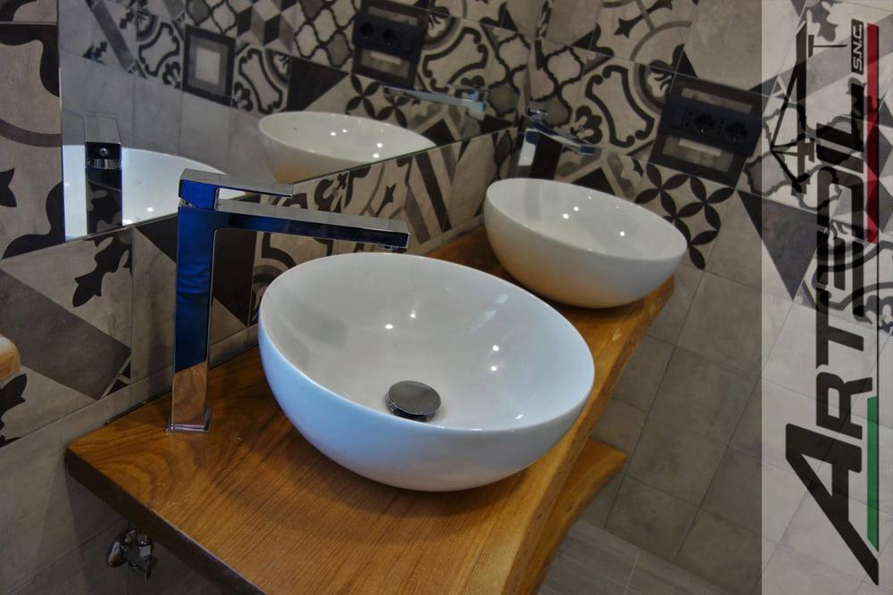 doppio lavabo appoggiato