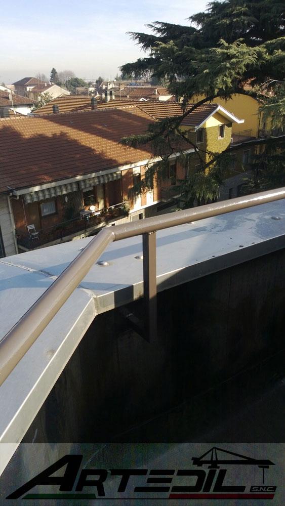 rifacimento tetto, mancorrente di ferro